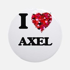 I Love Axel Ornament (Round)