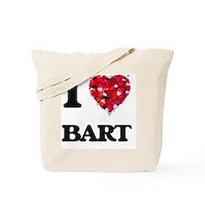 I Love Bart Tote Bag
