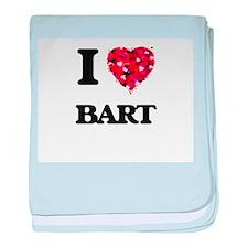 I Love Bart baby blanket