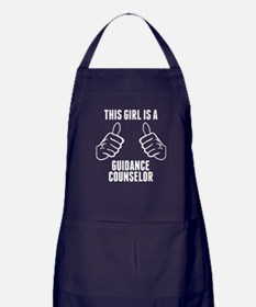 This Girl Is A Guidance Counselor Apron (dark)