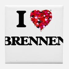 I Love Brennen Tile Coaster