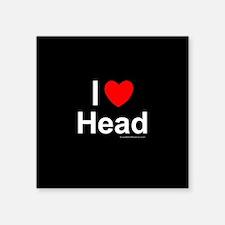 """Head Square Sticker 3"""" x 3"""""""