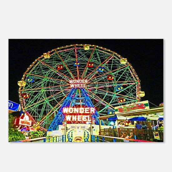 Funny Coney island Postcards (Package of 8)