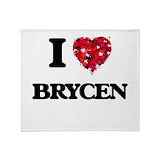 I Love Brycen Throw Blanket