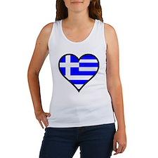 Greek Heart Women's Tank Top