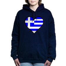 Greek Heart Women's Hooded Sweatshirt