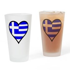 Greek Heart Drinking Glass