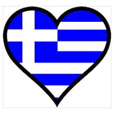 Greek Heart Poster