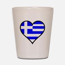 Greek Heart Shot Glass