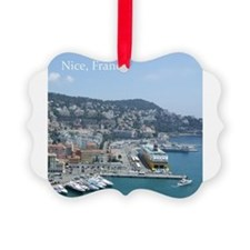 Nice harbor, South of France Picture Ornament