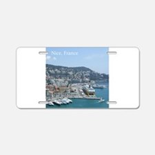 Nice harbor, South of France Aluminum License Plat
