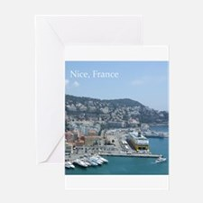 Nice harbor, South of France Greeting Cards