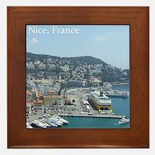 Nice harbor, South of France Framed Tile