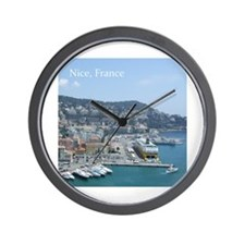 Nice harbor, South of France Wall Clock