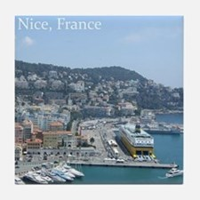 Nice harbor, South of France Tile Coaster