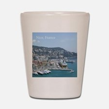 Nice harbor, South of France Shot Glass