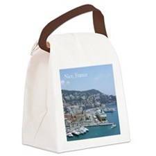 Nice harbor, South of France Canvas Lunch Bag