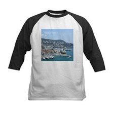 Nice harbor, South of France Baseball Jersey
