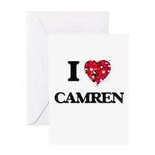 I Love Camren Greeting Cards