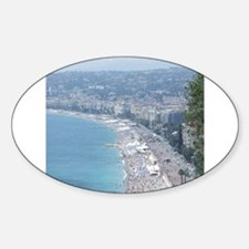 Nice Beach, South of France Decal