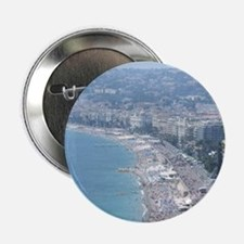 """Nice Beach, South of France 2.25"""" Button (10 pack)"""