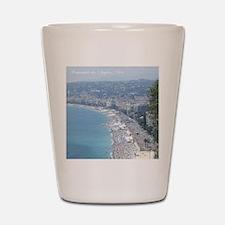 Nice Beach, South of France Shot Glass
