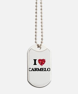 I Love Carmelo Dog Tags