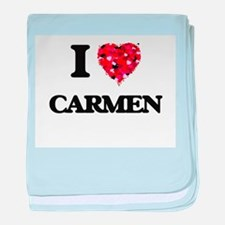 I Love Carmen baby blanket