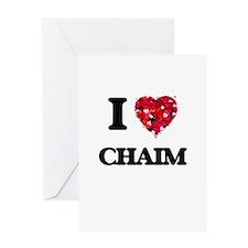 I Love Chaim Greeting Cards