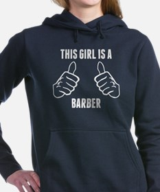 This Girl Is A Barber Women's Hooded Sweatshirt