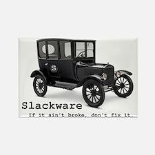 Slackware - If It Aint Broke Rectangle Magnet
