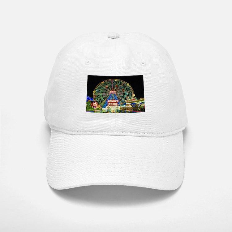 Coney Island's wonderous Wonder Wheel Baseball Baseball Cap