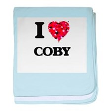I Love Coby baby blanket
