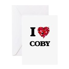 I Love Coby Greeting Cards