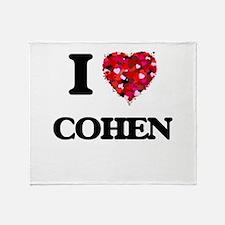 I Love Cohen Throw Blanket
