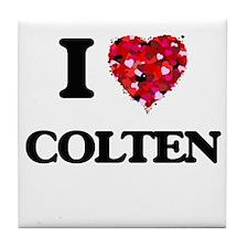 I Love Colten Tile Coaster