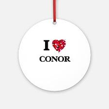 I Love Conor Ornament (Round)