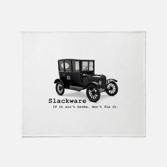 Slackware - If It Aint Broke Throw Blanket