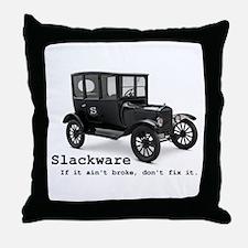 Slackware - If It Aint Broke Throw Pillow
