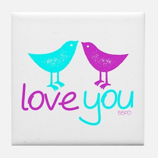 Love Birds Tile Coaster