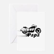 Biker Papa Greeting Cards