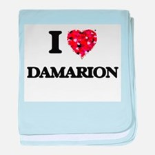 I Love Damarion baby blanket
