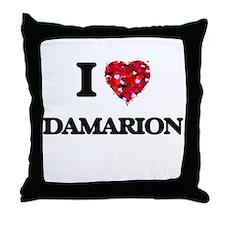 I Love Damarion Throw Pillow