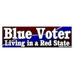Blue Voter Red State Bumper Sticker