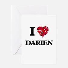 I Love Darien Greeting Cards