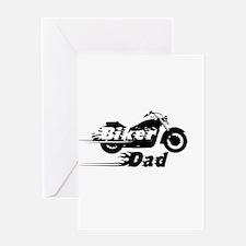 Biker Dad Greeting Cards