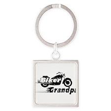 Biker Grandpa Keychains