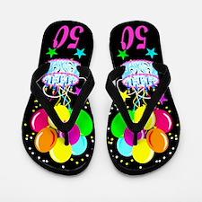 Festive 50th Flip Flops