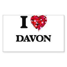 I Love Davon Decal