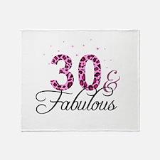 30 and Fabulous Throw Blanket